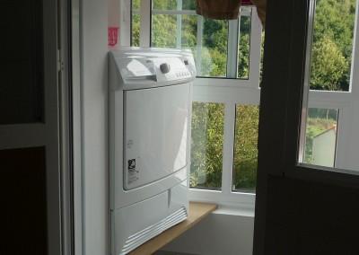 Área de servicio: secadora