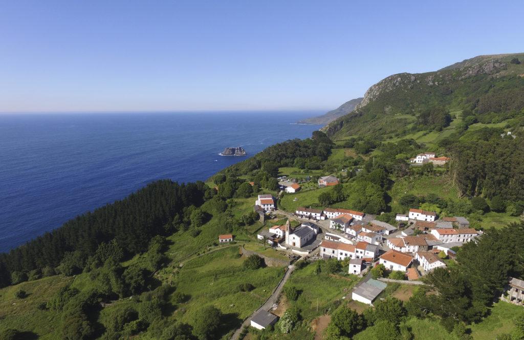 Vista aérea San Andrés de Teixido