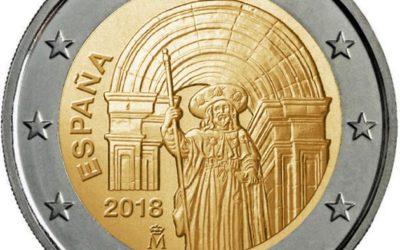 El Camino de Santiago en las nuevas monedas de 2€ en 2018