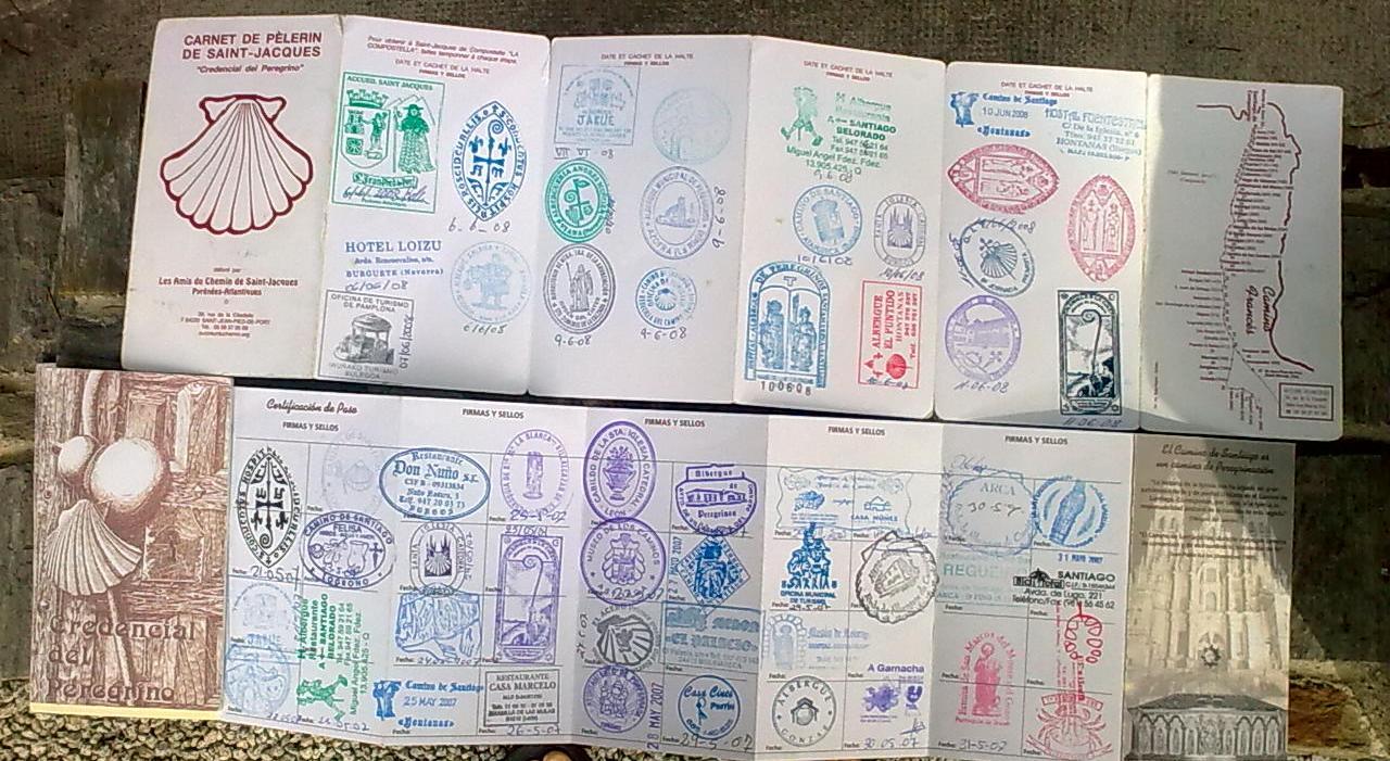 sellos recorrido_Camino_Santiago